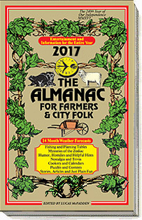 The Farmers Almanac for Farmers and City Folk Cover - Canadian and USA Versions Available